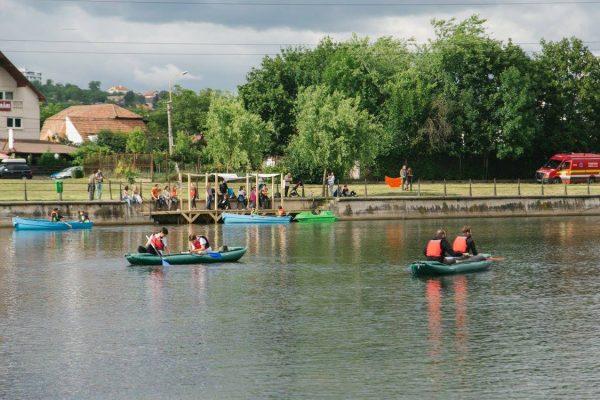 Caiac Canoe pe Lac Florești, cu Excursii din caiac – activitate organizată de SOS Someșul Nostru